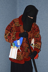 Slave charwoman in warm working jacket (Buses,Trains and Fetish) Tags: winter hot girl warm working hijab jacket torture fleece niqab maid anorak slave burka chador charwoman
