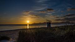 Playa de Muro sunrise (hjuengst) Tags: beach clouds strand sunrise geotagged spain nikon urlaub wolken wideangle mallorca sonnenaufgang spanien mediterraneansea majorca weitwinkel mittelmeer