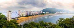 So Vicente - So Paulo - Panorama (Edinei Matos) Tags: ocean city trip travel light sea brazil sky people urban panorama mountain color building beach outside sand nikon soft tour cloudy outdoor sopaulo horizon photomerge nikkor seashore wandering sovicente 18200mm clicksp d3100