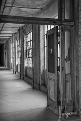 Lighted Corridor (gmckel50) Tags: door windows light urban building hospital hall interior corridor urbanexploration urbex abandonedhospital