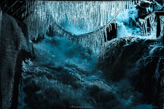 Cold (EXPLORED) / Thank you all! (Fredrik Lindedal) Tags: winter abstract cold texture ice water flow waterfall drops nikon stream frost sweden sverige