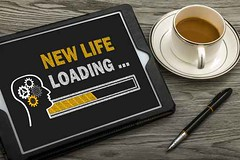 new life loading concept (writerjaneg) Tags: life new travel opportunity goal search dream progress happiness security move achievement future divorce change destination success touchscreen loading