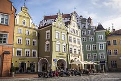 Altstadt Landshut (gerd.evermann) Tags: canon germany bayern deutschland bavaria eos altstadt fassade huser landshut eos5dmkii