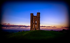Broadway's Tower (spiderstreaky) Tags: blue autumn winter light sunset red sky sun white abstract black blur detail green tower castle art english classic nature wet water sunshine birds stone wall closeup museum clouds fence dark season landscape climb countryside high nikon focus exposure stones walk top wildlife hill broadway cotswolds historic steeple hills fields dxo british worcestershire footpath beacon folly damp lightroom snowshill 2016 broadwaytower fishhill 500px dxooptics d7100