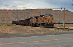 Radioactive Transport (BravoDelta1999) Tags: railroad up train utah unionpacific ge radioactivematerial brendel denverriogrande drgw 7095 ac4400 canecreekbranch