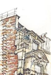 Paris_rue Bréa (velt.mathieu) Tags: paris architecture sketch croquis urbansketchers