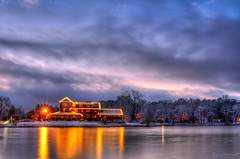 Lake House (Joe Barrett Photography) Tags: winter lake snow cold water clouds reflections catchycolors landscape newjersey dusk nj hdr southjersey 4seasons waterscape newfield catchycolorsyellow catchycolorsred catchycolorsblue photomatix franklinville wetreflections gloucestercounty flickrsbest hdraddicted yourbestoftoday bestofhdr ionalake sigma1770mmf284dcmacrohsm