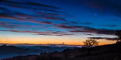 À ton étoile (Fabrice Le Coq) Tags: orange jaune soleil bleu ciel nuage paysage extérieur nuit leverdujour fabricelecoq