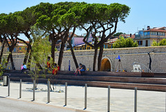 Ancient City Wall (Ruth Voorhis) Tags: trees architecture sculptures medievalwall
