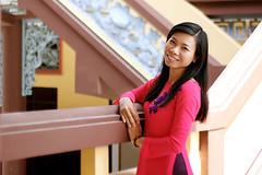 2015021201 (Yo Nguyen) Tags: pink me girl purple aodai tetholiday