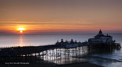 Sun Rise Over Eastbourne Pier (clive_metcalfe) Tags: ocean uk sky beach sunrise dawn sussex pier seaside spring sand waves westsussex eastbourne pleasurepier