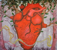 Oaxacan Heart Mural Mexico (Ilhuicamina) Tags: streetart art mexico paintings murals wallart mexican oaxaca corazon