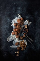 Walnuts (onegirlinthekitchen) Tags: cooking vertical canon 50mm nuts walnuts nopeople snack nutcracker veganfood foodphotography foodstyling veganlife darkfood