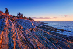 Pemaquid Sunrise (ROPhoto77) Tags: blue winter clouds sunrise landscape rocks outdoor rocky bluesky coastal ronn orenstein intensitypro pemaquidpt macphun ronnorenstein