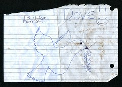 Found: Dove!! (haunted snowfort) Tags: from found ben dove note liam to discarded discovery find foundnote