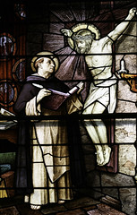 Doctor Communis (Lawrence OP) Tags: columbus window saint dominican stainedglass crucifix oh stpatricks friar stthomasaquinas doctorofthechurch