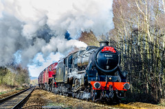 1 Black Five 1 Jubilee at Ince Wigan (phat5toe) Tags: train nikon track railway steam lancashire locomotive wigan ince d7000