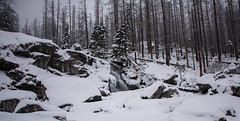 A winter waterfall. (thetomgrey) Tags: trees winter mountains water forest canon river waterfall movement stream filter 400 nd slovakia february tatry density tatra neutral 60d