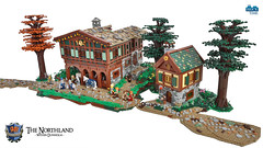 Dunholm Taverna & the House of Peer Rumstiek (Wochenender) Tags: trees house brick castle lego time medieval taverna minifigs northland chrono dunholm