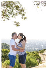Expectant parents love for each other (caramel.kisses11) Tags: summer portrait love canon kissing view sundown hill australia pregnant adelaide gumtree sunflare mountosmond