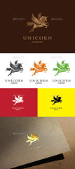 Unicorn Logo Template (Crests) (hypesol) Tags: corporate pegasus crest company unicorn myth