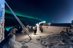 Iso-Syte winter photo festival (SamppaV) Tags: winter night dark cabin snowy freezing adventure lumi talvi pudasjrvi northernlights auroraborealis oneman 2016 isosyte tykkylumi canon6d tykkypuut wwwvalonkuvaajatfi vahasoihtu