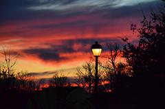 2015-12-31 (7) sunset in Glen Dale MD (JLeeFleenor) Tags: sunset red sun clouds photography twilight md glendale photos dusk maryland lamppost nightfall endofday