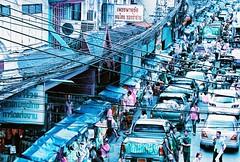Frameful (*Julius*) Tags: old city film 35mm town lomography nikon asia bangkok g capital f100 135 southeast afs c41 colornegative 24120mm krungthep yaowarad purplechrome