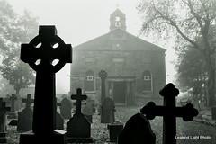 Misty Moody St Marys, Billinge (leaking_light) Tags: nikon ilfordhp5 f50 billinge