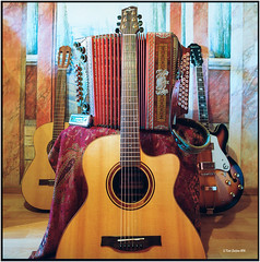 I like to play them all_Hasselblad 500 C/M (ksadjina) Tags: music 6x6 film analog scan instruments c41 hasselblad500cm kodakportra400 silverfast guitarlove nikonsupercoolscan9000ed carlzeissdistagon40mmf14