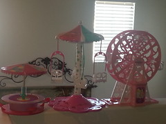 My new additions... (moonpiedumplin) Tags: carnival camp house scale fashion wheel vintage outdoors star stand doll furniture circus ooak dream barbie indoor fair ferris collection barbecue 80s barbeque 16 mansion rv custom mattel diorama traveler redo a
