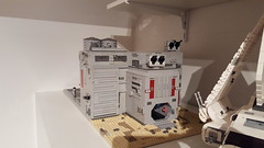 Imperial base WIP. Progress has been slow but a bit more work has been done mainly with the interior hanger area. (michaelozzie1) Tags: star lego imperial wars base tatooine moc