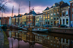 Groningen / Netherlands (Hamzeh Karbasi) Tags: sunset netherlands boat canal groningen   noorderhaven