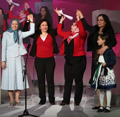 Maryam Rajavi with a delegation or Syrian women at the International Womens Day, Pledge for Parity: Women United Against Islamic Fundamentalism, Paris, February 27, 2016 (maryamrajavi) Tags: paris women iran ladefense human rights syria leader iranian gender maryam regime resistance equality opposition syrian internationalwomensday        wemen mullahs  rajavi   radjavi mojahedin