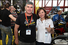 María Elsi con Antonio de Touratech