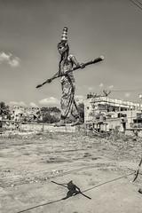 The Walk (Sathish_Photography) Tags: blackandwhite monochrome balancing tamilnadu bwphotography candidshot kumbakonam shadowshot girlonrope sathishphotography