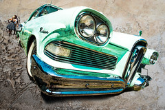 Edsel (madmtbmax) Tags: auto old usa green art classic ford car rock vintage us nikon view artistic background edsel mint hobby retro grill chrome american 1950s headlight 50s rocknroll frontal d700 worldcars