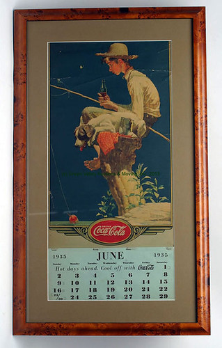 Framed Coke Calendar - $660.00 (Sold June 19, 2015)