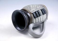 Hand-built Piano Mug (Paul Chenoweth) Tags: coffee mug stoneware handbuilt cone10 wheelthrown highfired