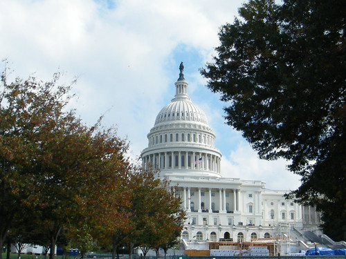 Washington DC. The US Capitol building and dome.