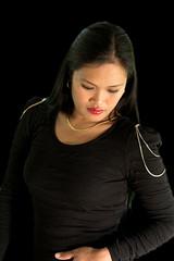 Carol IMG_2146 (Richard Craig Smart) Tags: light woman black sexy girl beautiful lady studio model eyes pretty mood looking philippines longhair style down filipina regal mindanao