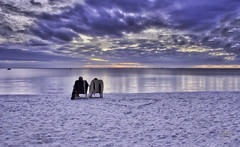 Hidden Heart (SteveFrazierPhotography.com) Tags: winter sunset beach clouds outside outdoors harbor boat sand couple december florida horizon footprints blues puntagorda fl peaceriver beachchairs pgi charlotteharbor charlottecounty channelmarkers poncedeleonhistoricalpark stevefrazierphotography