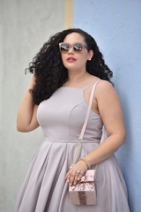 Pastel Party (GirlWithCurves) Tags: pastel weddings curlyhair weddingguest plussizefashion springstyle modcloth plussizeblogger taneshaawasthi