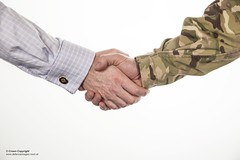 Male civilian and male serviceman shaking hands. (Defence Images) Tags: uk london mod military free handshake british sailor defense defence civilian civilservant personnel royalnavy ministryofdefence nonidentifiable