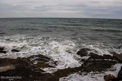 Burrasca. (Alessandro Photo - ALPH) Tags: sea italy beach italia mare burrasca puglia spiaggia bari forte vento scogli schiuma litorale bagnasciuga palese