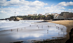 Biarritz (Mariane's Tree) Tags: france beach spring walk sunny reflect lowtide midday biarritz basquecoast