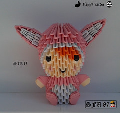 Rabbit Kid Origami 3d (Samuel Sfa87) Tags: rabbit bunny bunnies kids paper easter costume 3d kid origami child arte handmade crafts craft suit sfa fantasia criança rabbits papel crianças childs coelho coelhos artisan conigli papercraft pasqua vestita coniglio bambina bambino in vestito arteempapel blockfolding origami3d sfaorigami sfa87 arteconlacarta