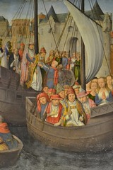 Detail from the Shrine of St Ursula by Hans Memling c1489. (greentool2002) Tags: st hospital john shrine hans sint bruges ursula memling c1489 janshopitaal
