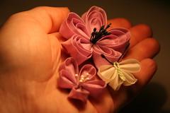 Kanzashielemente April (Cha Verde) Tags: flowers sakura blume blte stoff kanzashi