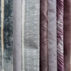 Adventures in Blueberry (jonnydredge) Tags: rust natural linen stripes silk cotton eco blueberries shibori spottedhyenas